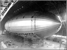 Photo Airship USS Macon Being Built Final Stages, Akron,OH