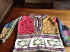 Mijn knit along trui een patroon van de breiclub