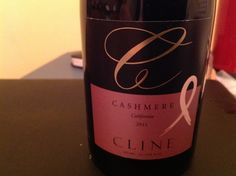 "This Cashmere Cline is always so silky and smooth, it's always a special treat.  It also evokes nostalgia of a special date for me.  So the wine is rich in grape and in memory.    From the label: ""lusciously bodied blend with easy, earthy undertones, flavors of cherries, raspberries, chocolate and hints of plums leading to a smooth, long finish.""  True that! Plus, Cline Cellars supports ""Living Beyond Breast Cancer.""  Wine with a cause-- I'll drink to that!"