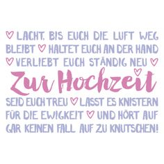 To the wedding / - Hochzeitstag Wedding Wishes, Wedding Cards, Diy Wedding, Wedding Gifts, Life Is Too Short Quotes, Life Quotes, Wedding Congratulations, Just Married, True Words