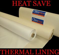 White Blackout Thermal Curtain Lining Fabric By The Metre