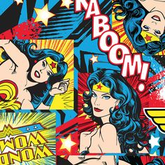 Pre-Order for Early October By the Yard DC Comic Wonder Woman Multi- Wonder Woman Panel Cotton Fabric JTH0947, $9.00