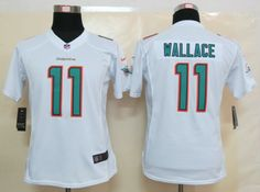 23df75a3accc3 New Arrival Nike Dolphins 11 Wallace White Women Limited Jerseys