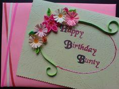 Gestalten Sie Papierblumen für den Geburtstagsgruß