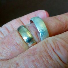 Couple of Cinder wedding bands getting sorted today. Platinum Wedding Rings, White Gold Wedding Rings, Groom Ring, Bride Groom, Rustic Wedding Bands, Wedding Ring Designs, Cinder, Solid Gold, Diamond Engagement Rings
