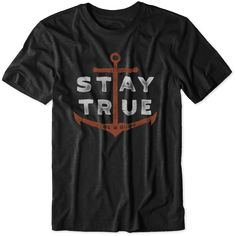 Men's Stay True Anchor Cool Tee|Life is good