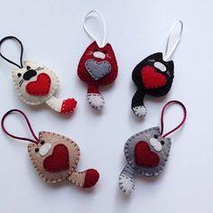Kedicikler Whatsapp 0545 839 41 10 #felt#keçe#cats#anahtarlık#kedicik#anahtarlık#keyring#bags#hediye#gift