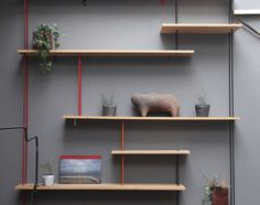 #BIBLIOTHEQUE Atelier 154 Storage Shelves, Wall Shelves, Shelving, Walnut Kitchen, Refurbished Furniture, Decorating Small Spaces, Bookshelves, Living Spaces, Sweet Home
