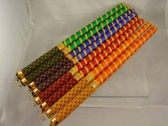 Navratri Craft - dandiya sticks