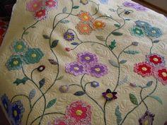 Grandmother's flower garden applique flowers - Mrs Peeks Farmhouse: June 2009