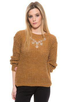 Sweater Lyon - Camel en DeluxeBuys!