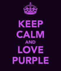 Quote: Keep calm and love purple! #penguinkids #SupportTheCrayons
