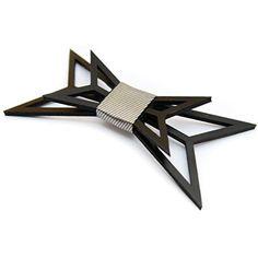3D black bow tie by ACC- Unique design bowtie for men- Premium quality 3D printed bow tie- Original 3D bowtie for special occasions