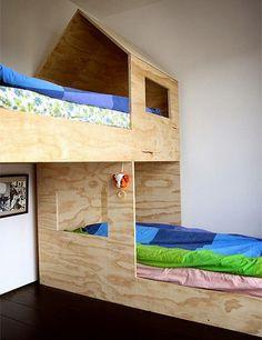 plywood bunk beds childrens bedroom design ideas