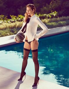 Ana Beatriz Barros Is Poolside For L'Officiel Russia July-August 2015