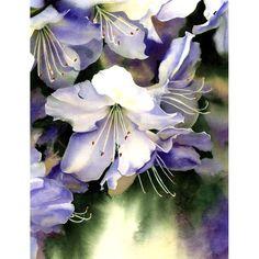 Watercolor Floral Print White Flowers Painting by AlisaPaints, Art Floral, Vintage Floral, Retro Vintage, Floral Prints, Watercolour Painting, Watercolor Flowers, Watercolours, Botanical Art, White Flowers