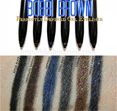 Bobbi Brown Perfectly Defined Gel Eyeliner Swatches