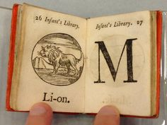 My Alphabet Book from The Infant's Library miniature books set by John Marshall c1800-1816    via @uberbabygraphic