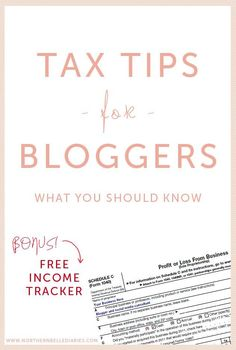 Tax Tips for Bloggers plus a free blogging income tracker #tax #bloggers