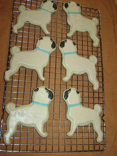 Pug cookies - Click image to find more Design Pinterest pins @Selina Gibson