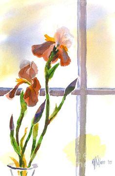Irises in the window.