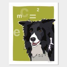 """Pop Doggie Einstein Dog Art Border Collie Art, 11 by 14""""  #Border #Collie #Doggie #Einstein From BorderCollies.xyz. Click through for more!"""