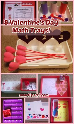 Here are some easy and fun Valentine math activities for you to use in your homeschool or to keep your kids busy this season! Valentines Day Activities, Valentine Ideas, Tot Trays, Happy Hearts Day, Heart Day, Montessori Toddler, Tot School, Business For Kids, Math Activities