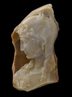 A fragmentary cameo of Athena Parthenos Greek, ca. 1st Century A.D., or later