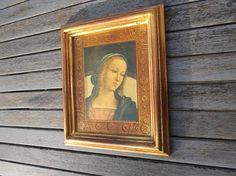 cadre en bois doré avec Madone de Pietro Perugino  cadre