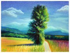 Pastel, Laura Mateescu, www. Pastel, Draw, Mountains, Nature, Painting, Travel, Voyage, Cake, To Draw