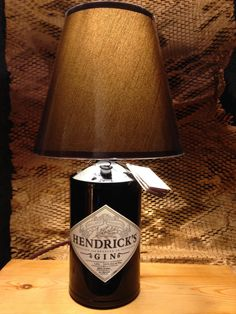 Gorgeous Hendricks Gin Bottle Lamp with/without by iBottleCrafts