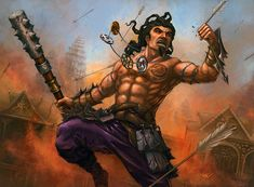 A berserker from the Crab Clan snatches an arrow from the air. For Legend of the Five Rings, © Alderac Entertainment Group. The Height of Courage Character Concept, Character Art, Character Design, Mystic Mountain, L5r, D&d Dungeons And Dragons, Triptych, Art Google, Fantasy Characters