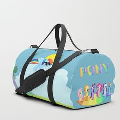 PONY Duffle Bag by ludovicainnocenti | Society6