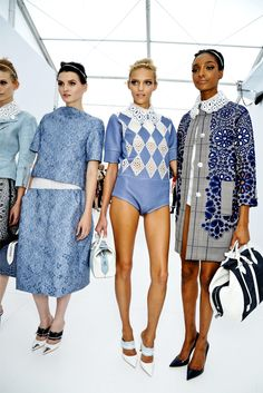 Blue is my favorite color!!!!!  These ensembles are Everything!!!  Love the coat!!!