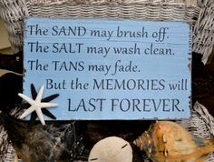 Beach Sign - The Sand May Brush Off Tans May Fade - Beach Decor - Coastal Decor - Beach Home Decor - Beach Theme - Distressed