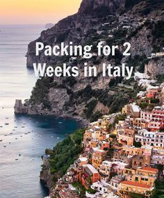 :: Italy Travel Diary: Packing for 2 Weeks in Italy :: packing list summer 2 weeks :: Crack Cake :: - The Sarcastic Blonde Italy Packing List, Italy Travel Tips, New Travel, Travel Europe, Packing Lists, Sicily Travel, Packing Cubes, Cheap Travel, Paris Travel