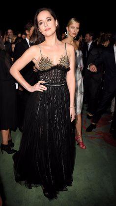 Dakota in Milan at the Green Carpet Fashion Awards 9/24/17.