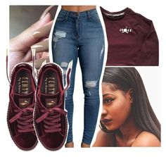 """Untitled #354"" by gabb-slayy ❤ liked on Polyvore featuring Puma"
