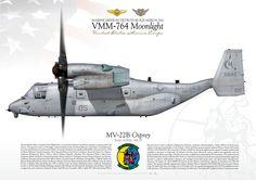 "UNITED STATES MARINE CORPS MARINE MEDIUM TILTROTOR SQUADRON 764 (VMM-764) ""Moonlight"""