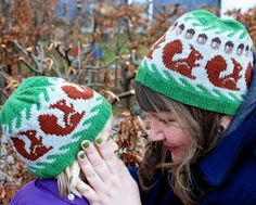Free Knit Squirrel Hat Pattern - Knitty released their pre-fall catalog!