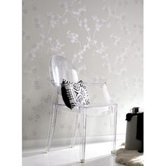 """Graham & Brown 33' x 20"""" Cherry Blossom Wallpaper  http://www.wayfair.com/Wallpaper-C261304.html         $30       Features:    •Material: Peelable vinyl •Textured •Unpasted •Color: Pearl     Dimensions:    •Wallpaper Roll: 20"""" W •Square Footage per Roll: 56ft² •Overall Product Weight: 1lbs"""