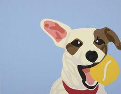"""Saatchi Online Artist Rankin Willard; Collage, """"Jack Russell"""" #art"""