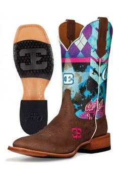 Women's Brown Sky Bar Cinch Edge Boots Western Clothing