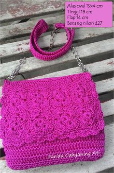 Purse with flap by Farida Cahyaning Ati