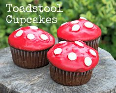 Gnomes love their toadstools! Click on the link for instructions on how to make gnometastic toadstool cupcakes.