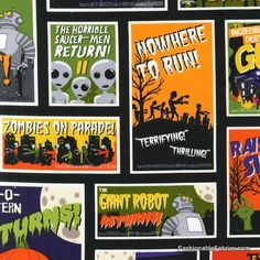 Fabric... Eerie Alley 3 Horror Movie Posters by Robert Kaufman