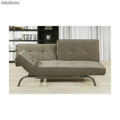 Sofá cama de apertura clic clac multiposicional textil.