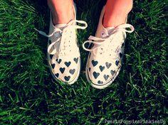 Pearls Poppies Pinkies Up || DIY Dalmatian Hearts || Vans || Canvas Shoes