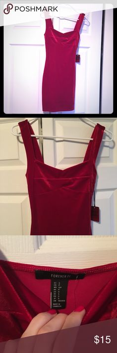 Red Velvet Mini NWT. Runs small. Bought for myself & is too small. Forever 21 Dresses Mini