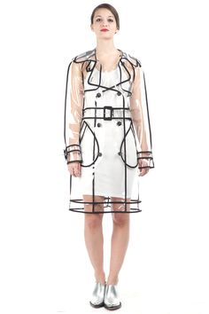 Wanda Nylon Wanda Trench in clear/black, $790 at Opening Ceremony.